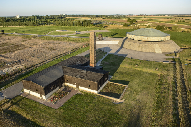 Former concentration camp - bird's-eye view